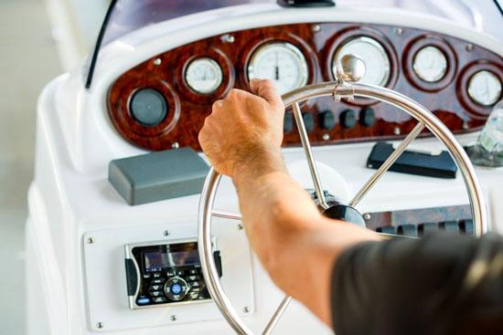 Boat captain nautical wheel